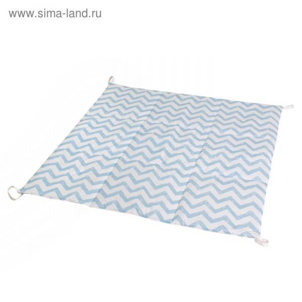 Игровой коврик для вигвама, хлопок, голубой  зигзаг