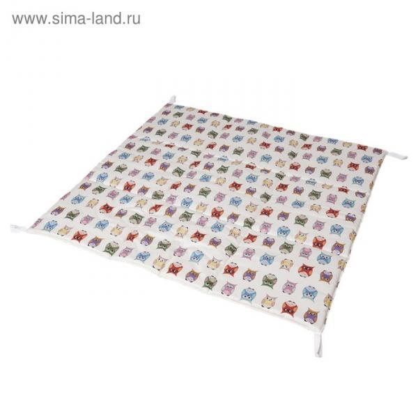 Игровой коврик для вигвама, хлопок, забавные совы
