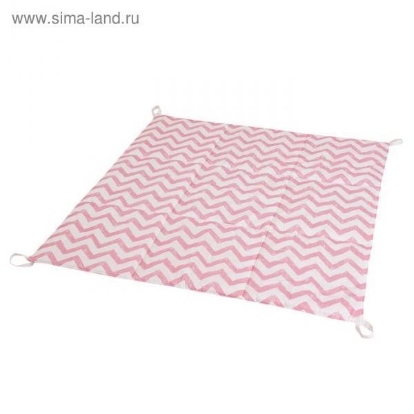 Игровой коврик для вигвама, хлопок, розовый  зигзаг