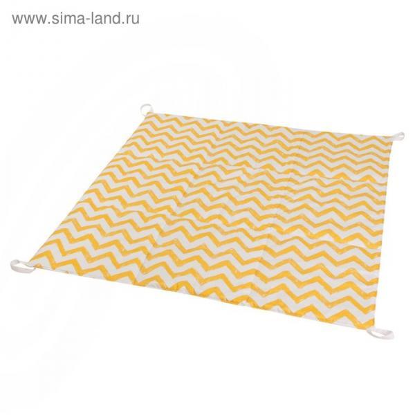 Игровой коврик для вигвама, хлопок, жёлтый зигзаг