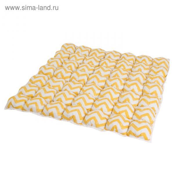 Коврик Бомбон для вигвама, жёлтый зигзаг