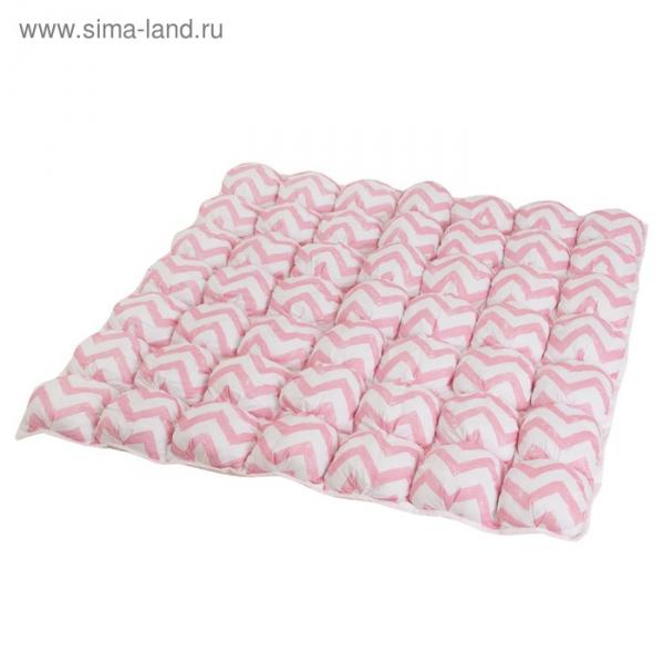 Коврик Бомбон для вигвама, розовый  зигзаг