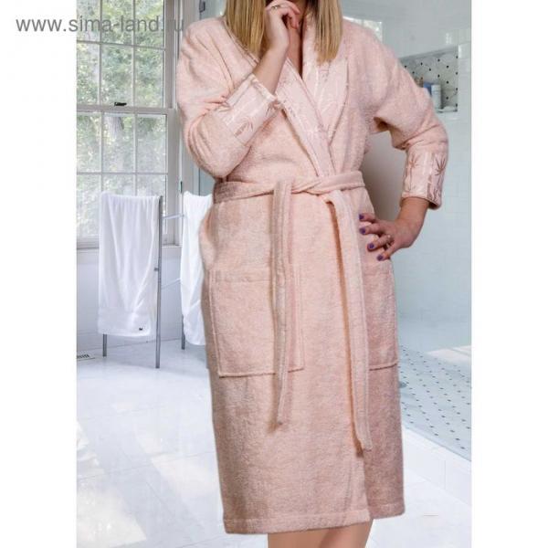 """Махровый халат """"ELIZA"""", размер L, цвет персиковый"""