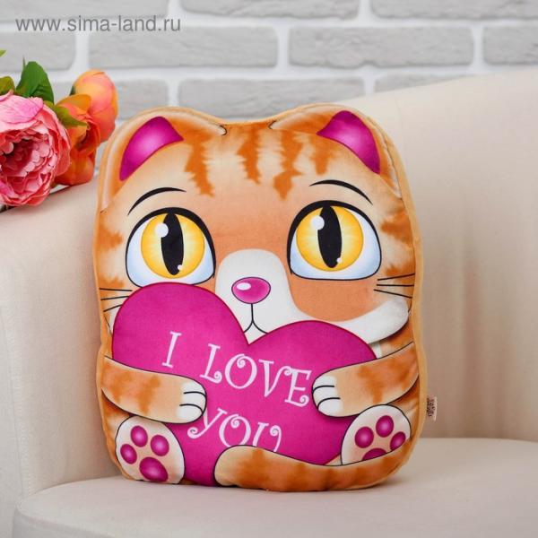 """Мягкая игрушка """"Рыжий котик"""" с сердцем"""