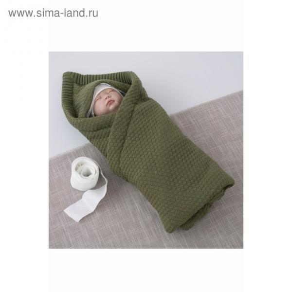 Одеяло-конверт «Шахматка», размер 77 × 77 см, хаки