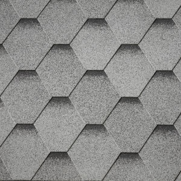 Битумная черепица Superglass™ HEX/ArmourShield (Granite Grey ultra)