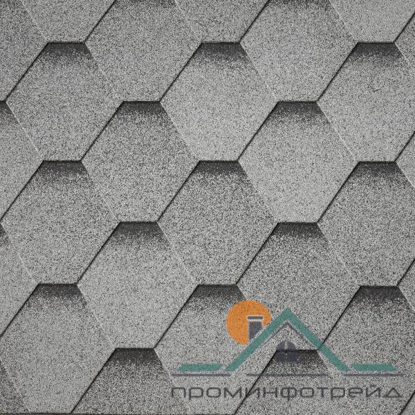 Фото Битумная черепица, Битумная черепица IKO , Коллекция Superglass™ HEX/ArmourShield Битумная черепица Superglass™ HEX/ArmourShield (Granite Grey ultra)