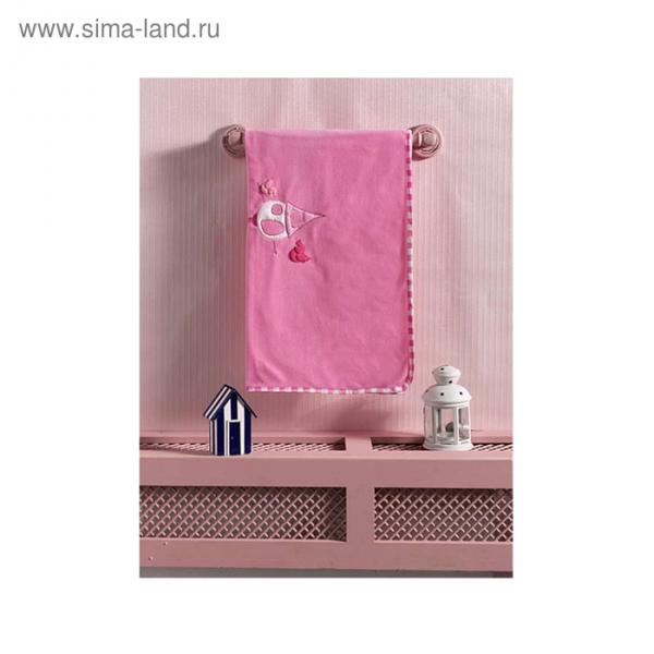 Плед Little Birds, размер 80х120 см, цвет розовый, флис