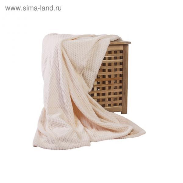 Плед Elegance, размер 200х220 см, цвет кремовый, микрофибра 280 г/м2