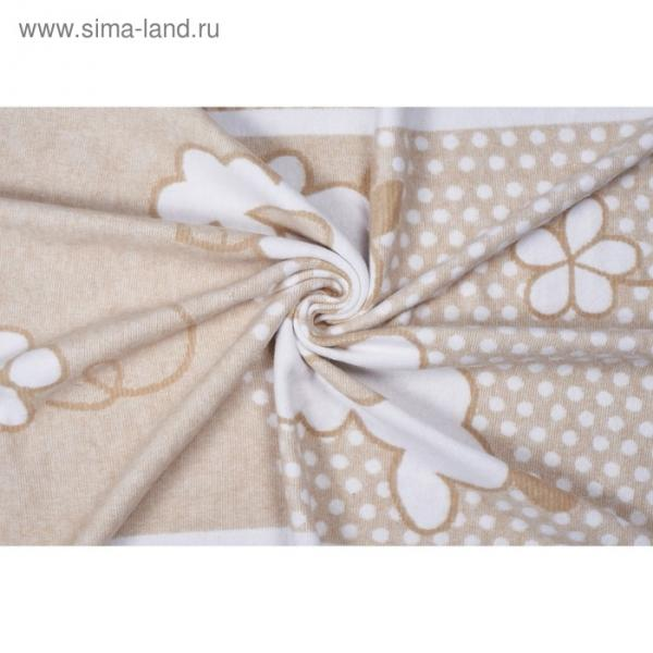 Одеяло байковое  Nuvola, размер 100х140 см, бежевый