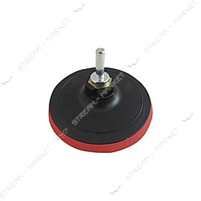 Насадка резиновая для дрели и УШМ с липучкой d 125 толщина 10мм без адаптера