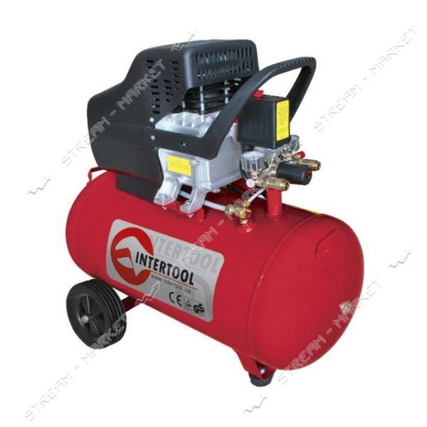 Компрессор INTERTOOL PT-0003 50 л, 2 HP, 1, 5 кВт, 220 В, 8 атм, 206 л/мин.
