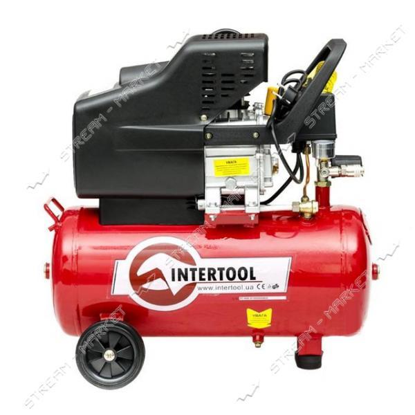 Компрессор поршневой INTERTOOL PT-0009 24 л, 1, 5 кВт, 220 В, 8 атм, 206 л/мин