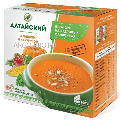 Крем-суп «Алтайский» с тыквой и кукурузой