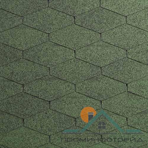 Фото Битумная черепица, Битумная черепица IKO , Коллекция Number One™ Tri/Diamant PLUS Коллекция Number One™ Tri/Diamant PLUS (Amazon Green)
