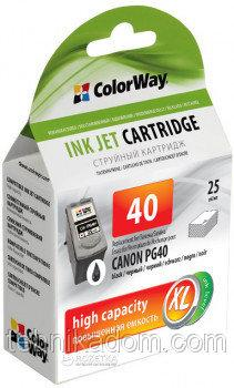 Картридж ColorWay Canon PG40 Black