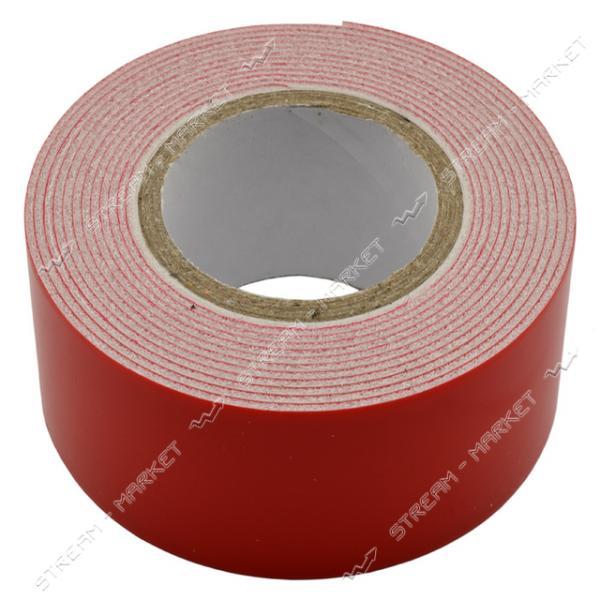 Скотч двухсторонний Рубин белый 30мм 2м