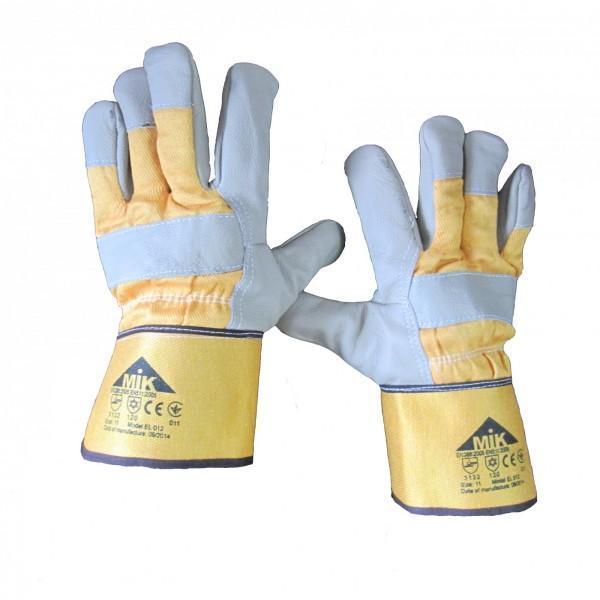 Перчатки комбинированные рабочие со спилком утепленные EL 012