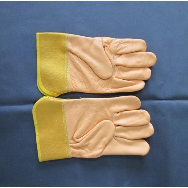Перчатки комбинированные рабочие с кожевенным спилком EC 006 А