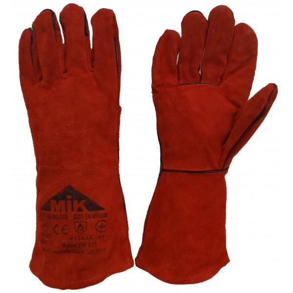 Перчатки рабочие спилковые (краги) EW 001