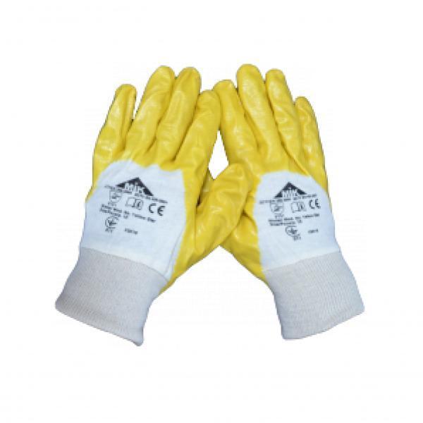 Перчатки с частичным покрытием нитрила  Yellow Star