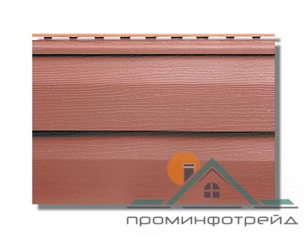 Фото Металлический сайдинг / Сайдинг ПВХ, Альта-Профиль, KANDA+ (Канада плюс) Сайдинг KANDA+ (Канада плюс) Красно-коричневый