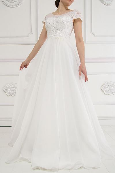 Нежное свадебное платье пудра Лиза