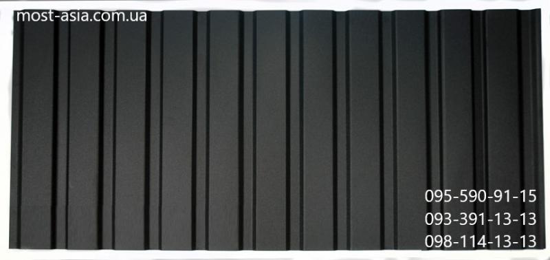 Профнастил Черный, Металлопрофиль 9005, Профлист РАЛ 9005, Профнастил RAL 9005