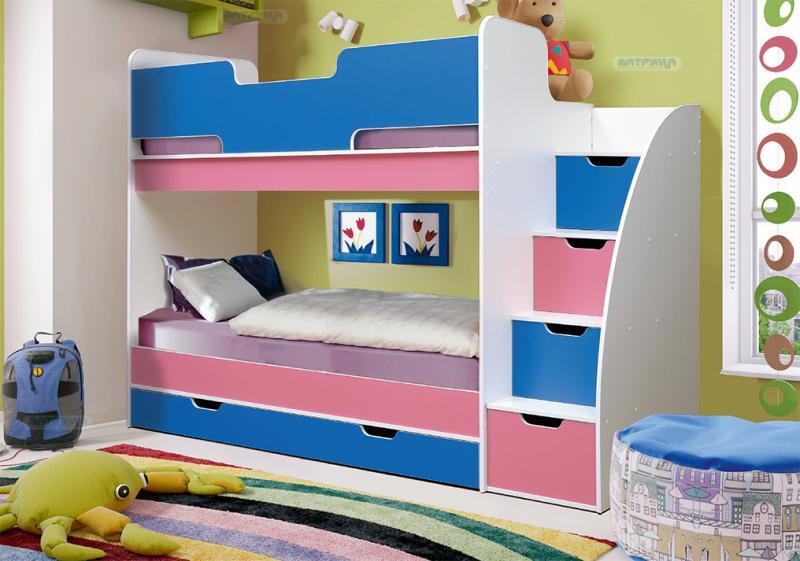 Фото Детская мебель Кровать двухъярусная Юниор - 9 (Матрица)