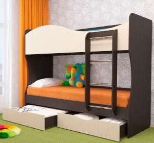 Кровать двухъярусная Кузя (Пирамида)