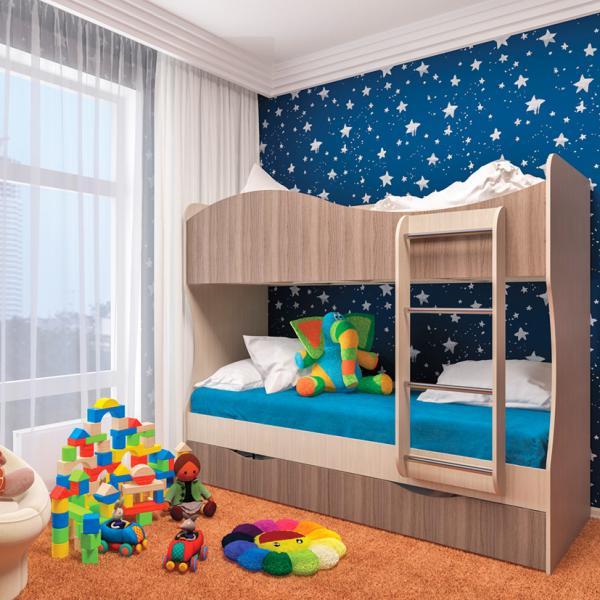 Фото Детская мебель, Детские кровати Кровать двухъярусная Кузя (Пирамида)