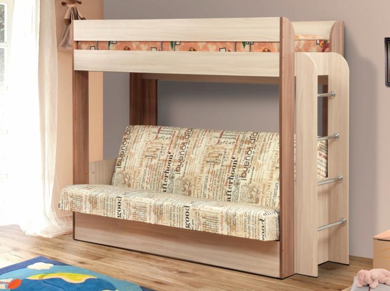 Фото Детская мебель Кровать-чердак с диван-кроватью Немо (Олмеко)