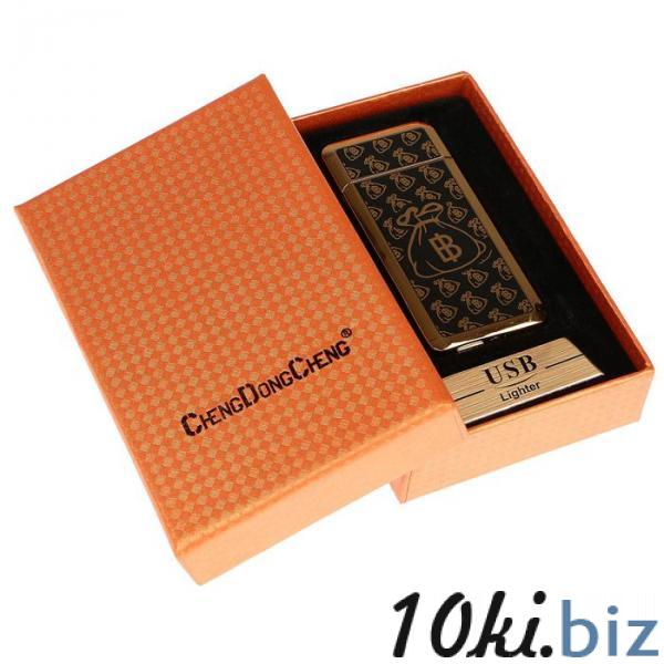 """Зажигалка электронная """"Биткоин"""" в подарочной коробке, USB, чёрно-золотая, 3.5х7 см купить в Беларуси - Зажигалки"""