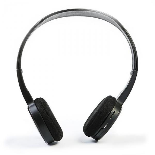 Наушники LuazON, накладные, беспроводные, с микрофоном, управление треками, черные