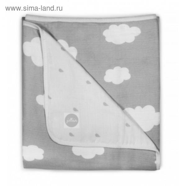 Одеяло муслиновое, размер 75х100 см, серые облака