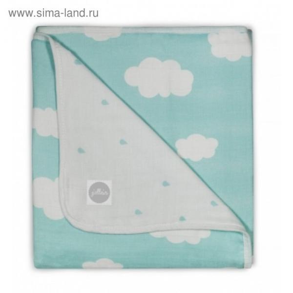 Одеяло муслиновое, размер 75х100 см, нефритовые облака