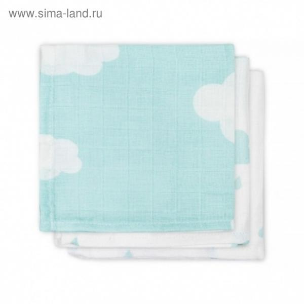 Набор салфеток для лица, размер 30х30 см-3 шт., нефритовые облака