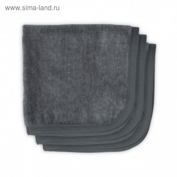 Набор салфеток для лица, размер 30х30 см-3 шт., антрацит