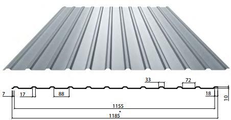 Профнастил С-10 сторона Б, Стеновой, Цинк, Украина 0,5 мм