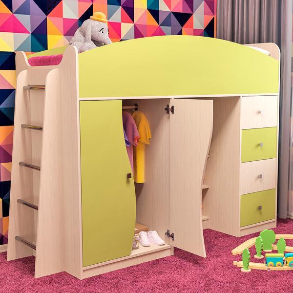 Фото Детская мебель Детская кровать комплекс БЭМБИ(Пирамида)