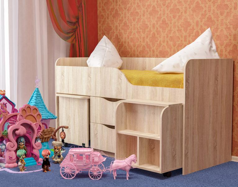 Фото Детская мебель Кровать детская ГНОМИК (Пирамида)