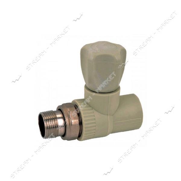 Вентиль полипропиленовый радиаторный прямой 25x3/4' KOER K0166.PRO