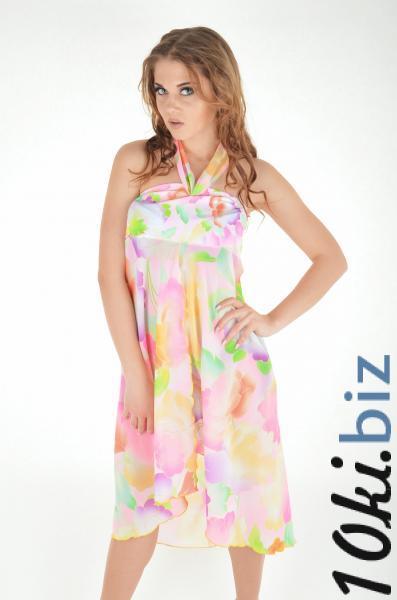 Розовое пляжное платье с принтом Amarea 609 One Size Розовый, цена фото купить в Киеве. Раздел Пляжная одежда парео