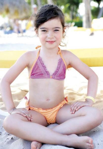 Детский купальник со стразами Vacanze Italiane VD 3318 110 Оранжевый