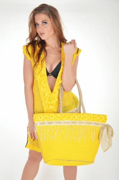 Пляжная сумка с кружевом Iconique KK 611 One Size Желтый