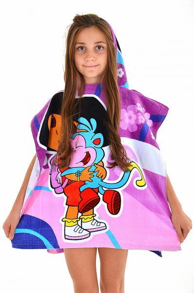 Пляжное полотенце пончо для девочки Ora Dora до 4х лет One Size Фуксия