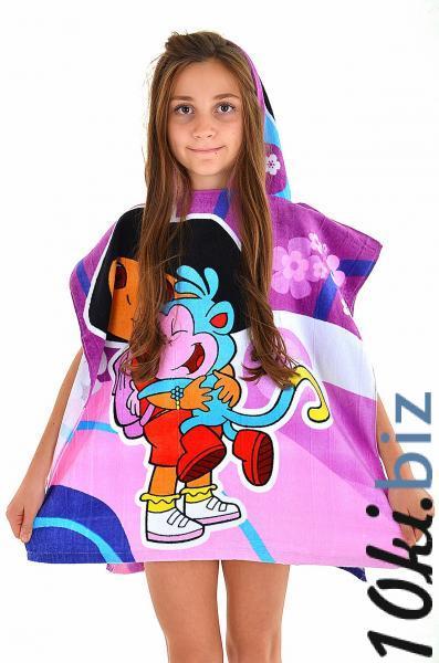 Пляжное полотенце пончо для девочки Ora Dora до 4х лет One Size Фуксия, цена фото купить в Киеве. Раздел Детские полотенца