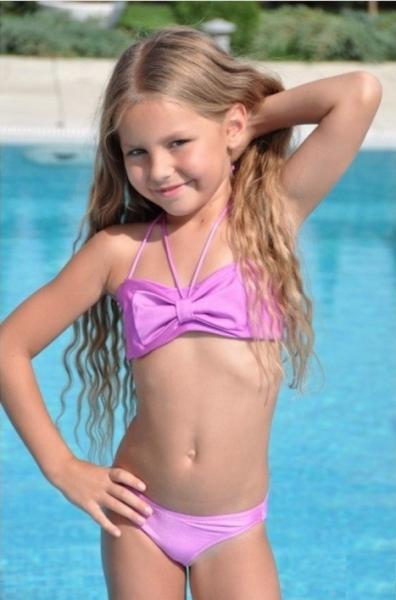 Розовый купальник для девочки BAEL Бантик 5501 134 Сиреневый BAEL 5501