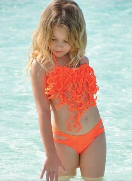 Купальник для девочки BAEL Осьминожка 5515 116 Оранжевый BAEL 5515