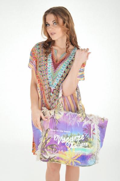 Пляжная сумка с принтом Vacanze Italiane VI7 033 One Size Сиреневый